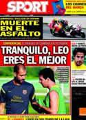 Portada diario Sport del 24 de Octubre de 2011