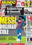 Portada Mundo Deportivo del 24 de Octubre de 2011