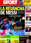Portada diario Sport del 25 de Octubre de 2011