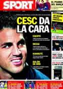Portada diario Sport del 27 de Octubre de 2011