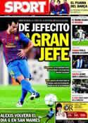 Portada diario Sport del 28 de Octubre de 2011