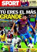 Portada diario Sport del 29 de Octubre de 2011