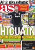 Portada diario AS del 31 de Octubre de 2011