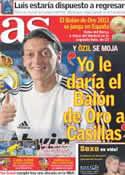 Portada diario AS del 1 de Noviembre de 2011