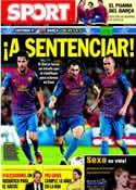 Portada diario Sport del 1 de Noviembre de 2011