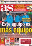 Portada diario AS del 2 de Noviembre de 2011