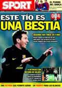 Portada diario Sport del 2 de Noviembre de 2011