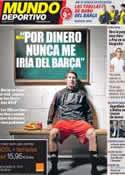 Portada Mundo Deportivo del 4 de Noviembre de 2011