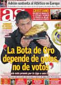 Portada diario AS del 5 de Noviembre de 2011