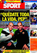 Portada diario Sport del 5 de Noviembre de 2011