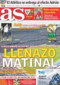 Portada diario AS del 6 de Noviembre de 2011