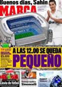 Portada diario Marca del 6 de Noviembre de 2011