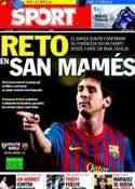 Portada diario Sport del 6 de Noviembre de 2011