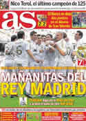 Portada diario AS del 7 de Noviembre de 2011