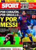 Portada diario Sport del 7 de Noviembre de 2011