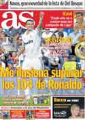 Portada diario AS del 8 de Noviembre de 2011