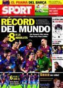 Portada diario Sport del 8 de Noviembre de 2011