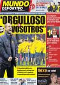 Portada Mundo Deportivo del 8 de Noviembre de 2011