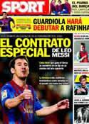 Portada diario Sport del 9 de Noviembre de 2011