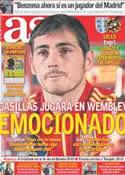 Portada diario AS del 12 de Noviembre de 2011