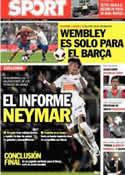 Portada diario Sport del 13 de Noviembre de 2011