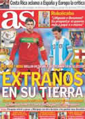 Portada diario AS del 14 de Noviembre de 2011