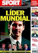 Portada diario Sport del 14 de Noviembre de 2011