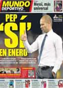 Portada Mundo Deportivo del 14 de Noviembre de 2011