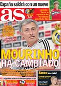 Portada diario AS del 15 de Noviembre de 2011