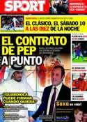 Portada diario Sport del 15 de Noviembre de 2011