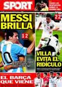 Portada diario Sport del 16 de Noviembre de 2011