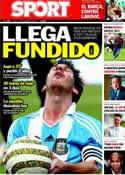 Portada diario Sport del 17 de Noviembre de 2011