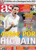 Portada diario AS del 18 de Noviembre de 2011