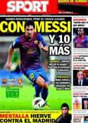 Portada diario Sport del 19 de Noviembre de 2011