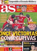 Portada diario AS del 21 de Noviembre de 2011
