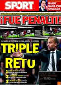 Portada diario Sport del 21 de Noviembre de 2011