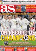Portada diario AS del 23 de Noviembre de 2011