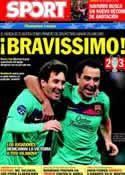 Portada diario Sport del 24 de Noviembre de 2011