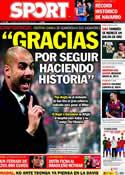 Portada diario Sport del 25 de Noviembre de 2011