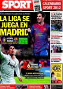 Portada diario Sport del 26 de Noviembre de 2011