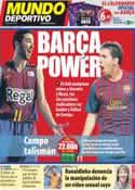 Portada Mundo Deportivo del 26 de Noviembre de 2011