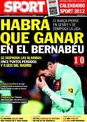 Portada diario Sport del 27 de Noviembre de 2011