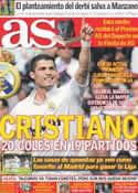 Portada diario AS del 28 de Noviembre de 2011