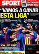 Portada diario Sport del 28 de Noviembre de 2011