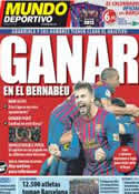 Portada Mundo Deportivo del 28 de Noviembre de 2011