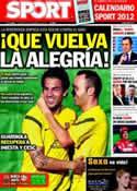 Portada diario Sport del 29 de Noviembre de 2011