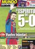 Portada Mundo Deportivo del 29 de Noviembre de 2011