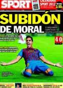 Portada diario Sport del 30 de Noviembre de 2011
