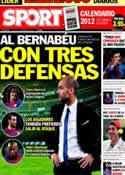 Portada diario Sport del 1 de Diciembre de 2011