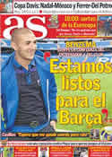 Portada diario AS del 2 de Diciembre de 2011
